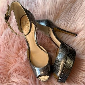 🖤 Vince Camuto | Lillith SnakePrint Leather Heels